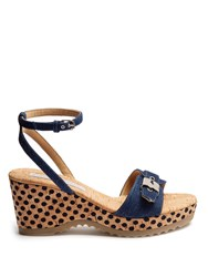 Stella Mccartney Linda Wedge Sandals Denim