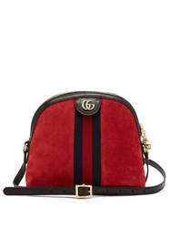 Gucci Ophidia Suede Cross Body Bag Red Multi