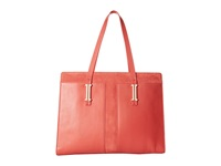 Ivanka Trump Hudson Work Tote Poppy Nappa W Summer Suede Tote Handbags Orange