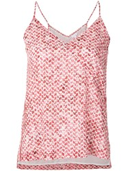 Lala Berlin Marbled Kufiya Print Vest Top Red