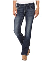 Rock And Roll Cowgirl Low Rise Bootcut In Dark Vintage W0 8461 Dark Vintage Women's Jeans Navy