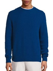 Vince Wool And Cashmere Blend Textured Sweater Admiral Blue Multicolor