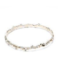 Alexis Bittar Pyrite And Crystal Baguette Bangle Gold