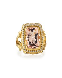 Jude Frances Judefrances Jewelry 18K Morganite And Diamond Fleur Cocktail Ring Women's