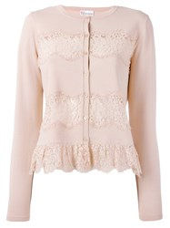 Red Valentino Lace Applique Cardigan Pink Purple