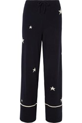 Chinti And Parker Star Cashmere Pajama Pants Navy