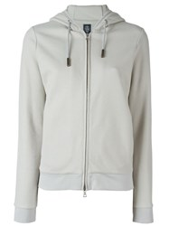 Eleventy Zipped Up Hoodie Nude And Neutrals