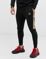 Sik Silk Siksilk X Dani Alves Slim Fit Joggers In Black With Side Stripe