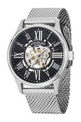 Stuhrling Men's Autruim Skeleton Elite Automatic Watch Metallic