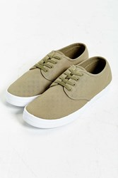 Urban Outfitters Uo Canvas Plimsoll Sneaker Olive