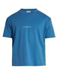 Everest Isles Coast Cotton Jersey T Shirt Blue