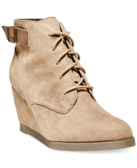 Madden Girl Madden Girl Dailey Lace Up Wedge Booties Women's Shoes