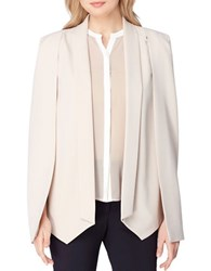 Tahari By Arthur S. Levine Modern Fit Solid Cape Sand