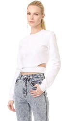 Thierry Mugler Long Sleeve Top Off White