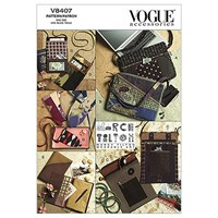 Vogue Bags Eyeglass Case And Journal Cover Sewing Pattern 8407