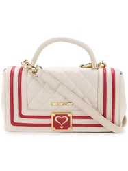 Love Moschino Quilted Shoulder Bag Women Polyurethane One Size White
