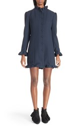 Women's J.W.Anderson Ruffle Trim Wool Blend Coat