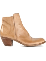 Officine Creative Western Style Ankle Boot Nude And Neutrals