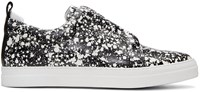 Pierre Hardy Black And White Slider Slip On Sneakers