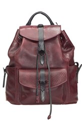 Will Leather Goods 'Rainier' Leather Backpack Brown Oxblood