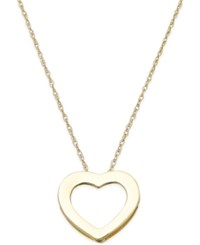 Macy's Open Heart Pendant Necklace In 10K Gold