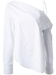 Dion Lee 'Axis' Blouse White