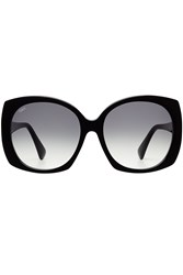 Tod's Tods Oversize Sunglasses With Leather Black