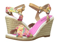 Sperry Saylor Prints Bright Pink Liberty Women's Wedge Shoes Multi