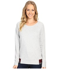 The North Face Street Lounge Crew Tnf Light Grey Heather Women's Long Sleeve Pullover Gray