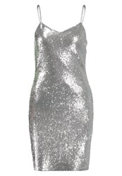 Noisy May Nmlola Cocktail Dress Party Dress Silver