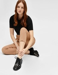 Charles And Keith Embellished Derby Shoes Black
