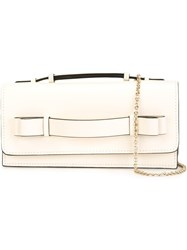 Red Valentino Hand Strap Clutch White