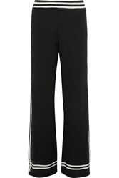 Chinti And Parker Striped Wool Pants Black