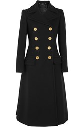 Alexander Mcqueen Double Breasted Wool Coat Black