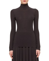Akris Cashmere Blend Zigzag Ribbed Pullover