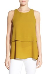 Women's Bobeau Tiered Sleeveless Top Olive Oil