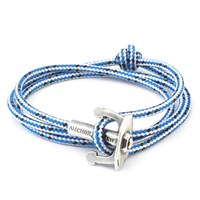 Anchor And Crew Blue Dash Union Rope Bracelet