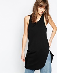 The Furies Mandarin Sleeveless Tunic Jetblack