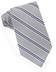 Lord And Taylor Racer Stripe Tie Gray