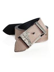 Versace Reversible 4 In 1 Belt Taupe Black