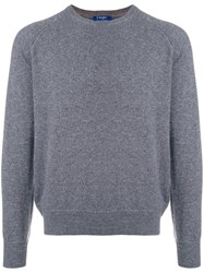Barba Crew Neck Jumper Grey