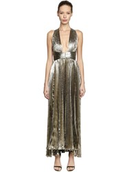 Maria Lucia Hohan Open Back Silk Chiffon And Lurex Dress