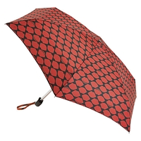 Lulu Guinness Tiny Lips Umbrella Black Red