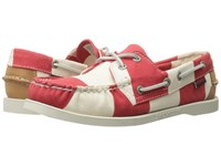 Sebago Spinnaker Red White Striped Canvas Women's Lace Up Casual Shoes
