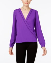 Inc International Concepts Wrap Blouse Only At Macy's Vivid Purple