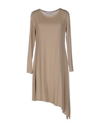 Lo Not Equal Short Dresses Beige