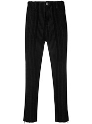 Transit Textured Stripe Trousers Black