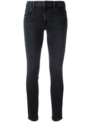 Helmut Lang High Waisted Cropped Jeans Grey