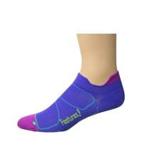 Feetures Elite Ultra Light No Show Tab 3 Pair Pack Baja Blue Reflector No Show Socks Shoes