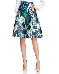 Gracia Tropical Full Skirt Compare At 114 Green